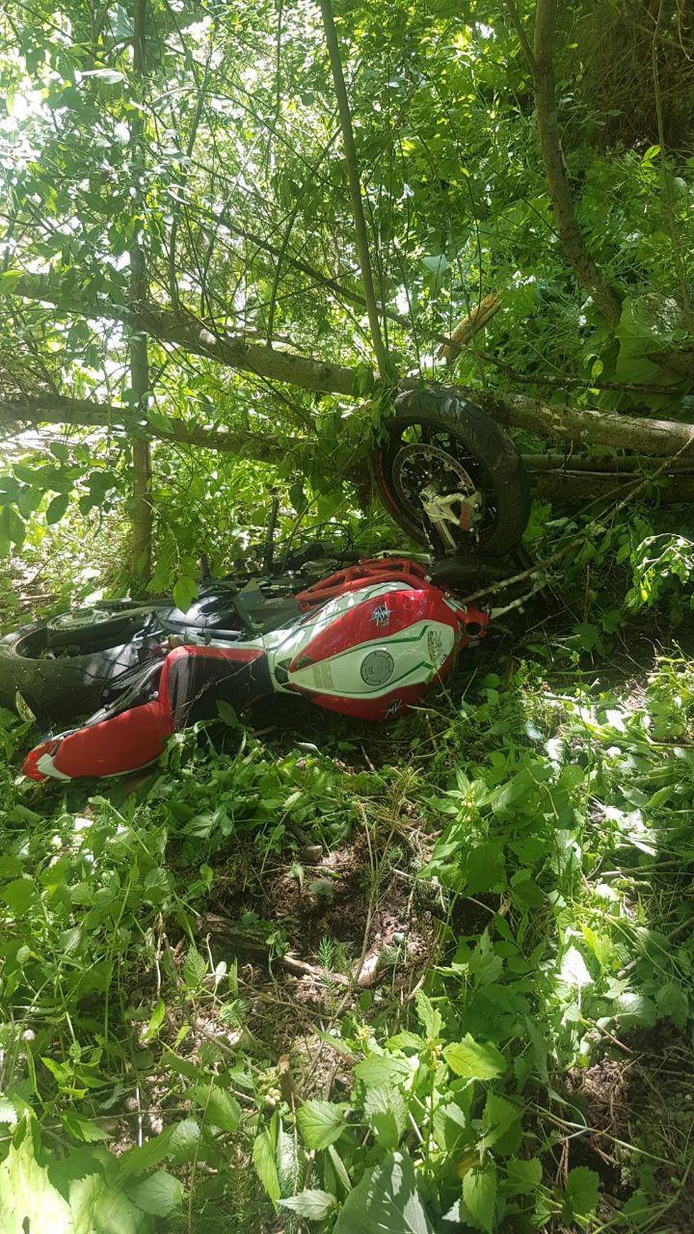 Il motociclista finito nel burrone a Santo Stefano di Cadore - Il Gazzettino