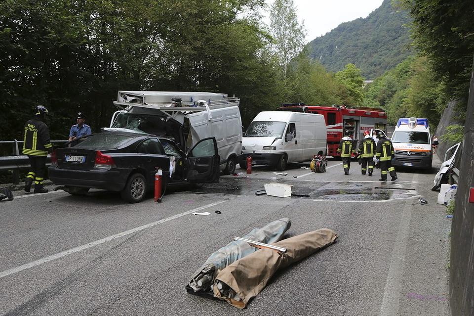 L'incidente mortale sulla provinciale 1 bis